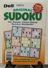 Dell Original Sudoku Easy to Challenger Puzzles October 2016 FREE SHIPPING JB