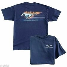 NEW BLUE FORD MUSTANG FLAMING PONY HORSEPOWER SIZE MEDIUM OR XXL MENS SHIRT!