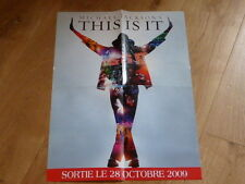 MICHAEL JACKSON - THIS IS IT  !RARE FRENCH PROMO  PRESS/KIT POSTER