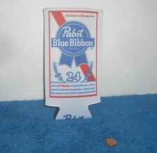 PBR Pabst Blue Ribbon Beer Koozie 24 oz Tall Can Cooler Coozie - NEW