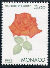 TIMBRE DE MONACO N° 1839 ** FLORE / EXPOSITION A GENES / ROSE CHRISTOPHE COLOMB