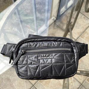Michael Kors Winnie belt Bag Crossbody Purse Back quilted Black