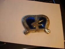 Vtg Metal Made Occupied Japan Ornate Jewelry / Trinket  Box/ Lyre & Music Notes