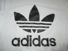 Vintage Adidas Logo (White & Gray Label) (XL) T-Shirt WHITE & BLACK