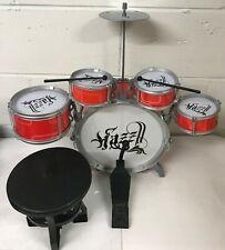 Kids JAZZ Drum Set Kit Musical instrument Play Musical Set - Xmas GIFT Blue Red