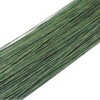 50PCS Dark Green #26 Paper Covered Wire DIY Nylon Stocking Flower Making