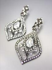 STUNNING Urban Anthropologie Antique Crystals Chandelier CLIP Pageant Earrings