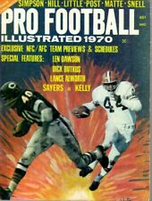 1970 Pro Football Illustrated magazine Gale Sayers,Chicago Bears, Leroy Kelly Fr