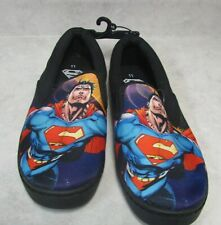Men's Size 11 Superman Canvas Slip-On Shoes