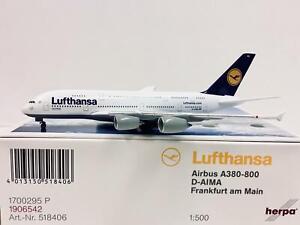 Herpa Wings Lufthansa Airbus A380-800 Frankfurt am Main 1:500 D-AIMA 518406
