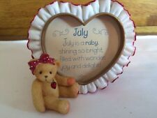 Teddy Bear Picture Frame Heart Shape July red heart neckace heart shape frame