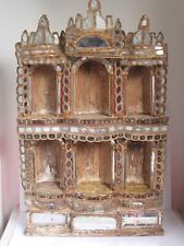 Antique Spanish 18th c. Altar Nicho with Mirror Mosaic Exceptional
