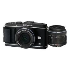USED Olympus E-P3 12.3 MP with 14-42mm + 17mm Black Excellent FREE SHIPPING