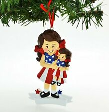 American Girl Doll Brown Personalized Christmas Tree Ornament
