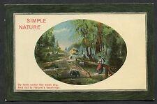 C1910 Studio Art Card 'Simple Nature' Country Scene