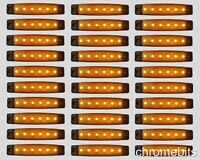 30 x 24V 24 VOLT 6 LED AMBER SIDE MARKER LIGHT POSITION TRUCK TRAILER LORRY