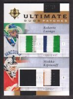 2011-12 Ultimate Collection Duos Patch #GV Roberto Luongo/Miikka Kiprusoff 24/25