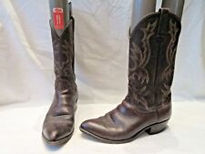 VINTAGE POUR HOMME DAN POST en Cuir Marron Cowboy Boots UK 7.5 US 8.5 (1619)