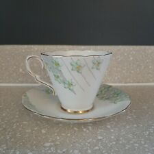 Vintage Gladstone China G.P. & Co Teacup Tea Cup England Green Floral Gold Trim
