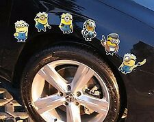 3D 6 Minion Mini Burger Car Truck Body Decal bod vehicle wheel sticker Graphics