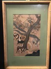 Vintage Japanese Artist Nobuharu Kasuga Wood Block Print The Herd Artwork