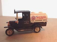 RED CROWN CHEVRON - DIE CAST FORD MODEL T TANKER - LLEDO