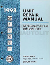 1998 Chevy Geo Manual Transmission Overhaul Book Tracker Metro Prizm OEM