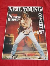 + 1987 Neil Young & Crazy Horse Germany Nürnberg Concert Poster 1st print