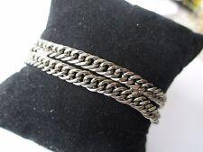 bracelet bijou vintage signé GOLDETTE maille gourmette couleur argent * 566