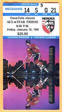 "1991 NHL ALL STAR GAME WEEKEND TICKET STUB-FRI ""NHL HEROES DAY"""