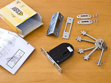 7 lever mortice deadlock with 2 double bitted sided keys door mortise bolt lock
