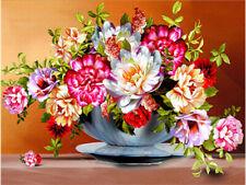 5D Diy Diamond Painting Embroidery Cross Stitch Flowers Full Drill Art Craft Kit