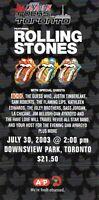 ROLLING STONES-AC/DC-RUSH 2003 TORONTO ROCKS UNUSED  CONCERT TICKET-NEIL PEART