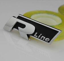 Auto Car R-line Aufkleber Emblem Metall Schriftzug Plakette für R Rline schwarz