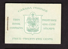 CANADA 1942 25c COMPLETE BOOKLET SB39.