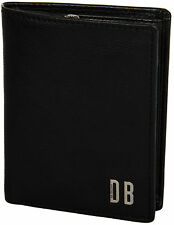 Portafoglio Uomo Nero Bikkembergs Wallet Black D1506 Metal Vertical + Zip Coin P