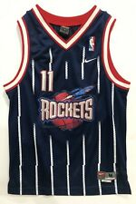 Yao Ming Houston Rockets Jersey Nike Swingman Youth Medium 12-14 Blue Away VTG