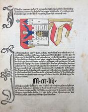 CRONECKEN SASSEN BISCHOF LÜBECK KRÖNUNG MAGDEBURG WAPPEN SCHÖFFER MAINZ 1492 #T3