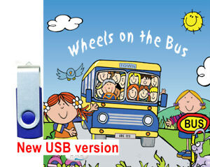 The Wheels on the Bus  - Children's favourite songs USB STICK 25 MP3 songs *NEW*
