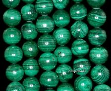 12MM NATURAL MALACHITE GEMSTONE AA GENUINE GREEN ROUND 12MM LOOSE BEADS 15.5""
