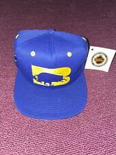 Rare Vintage 1990s Buffalo Sabres Snapback Hat Royal Blue Big Buffalo Logo #1