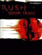 Rush Vapor Trails Guitar Tab Tablature Song Book