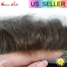 Soft French Lace Men Toupe Full Lace Human Hair Mens Wig Toupee For Men 50 COLOR