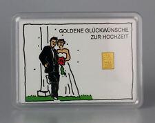 1 Gramm Gold 999,9 + Zertifikat ► 1g Goldbarren ► Hochzeit Brautpaar Geschenk