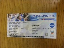 25/03/2016 Ticket: Portsmouth v Notts County  (folded). Thanks for viewing this