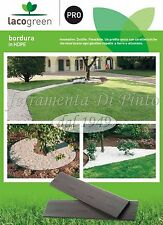 6 Bordura Barre da MT 2,5 CACAO mm 10 H 140 mm Decorazione Giardino Lacogreen