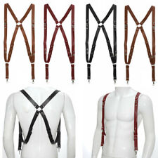 3x Camera Strap for Two-Cameras Dual Shoulder Leather Harness Multi Camera Gear