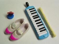 BANDAI miniature key board Recorder Castanets school shoes pink