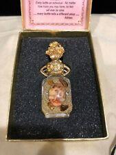 ADRIAN Boca Florida Designer Perfume Mini 1/8 fl oz Jeweled Figural Bottle