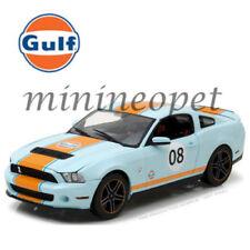 GREENLIGHT 12990 GULF OIL 2012 SHELBY GT 500 FORD MUSTANG #08 1/18 LIGHT BLUE
